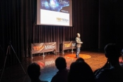 Rob Duvall as host of TEDxMilton 2012 at the Milton Centre for the Arts