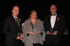 Rob Duvall with Donna Danielli and Mike Shepherd all nominees for the Milton Chamber of Commerce Business Person of the Year 2010