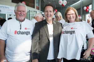 Rob Duvall supports United Way Milton Rally 2012 with friends in the community